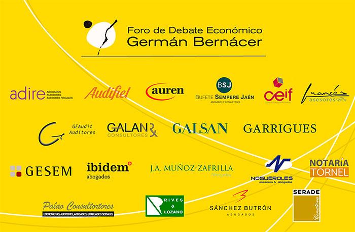 Panel completo de socios del Foro Germán Bernácer