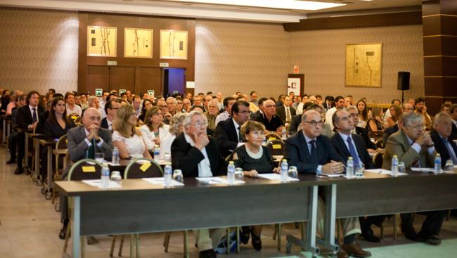 Aspecto de la sala en el acto de la presentación del Foro Germán Bernácer.