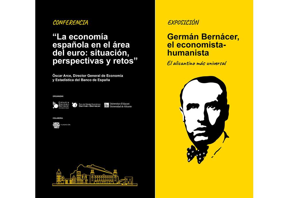 Cartel de la conferencia de Oscar Arce
